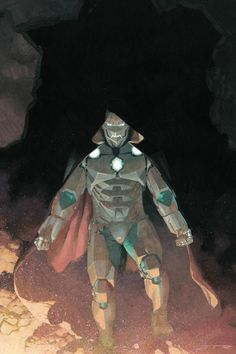 Infamous Iron Man Variant by Esad Ribic; Infamous Iron Man Variant by Rafael Albuquerque Comic Book Artists, Comic Book Characters, Comic Artist, Marvel Characters, Comic Books Art, Dr Doom Marvel, Marvel Comics Art, Marvel Heroes, Anime Comics