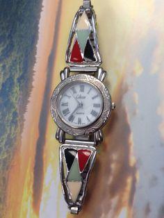 Collezio Enamel Quartz Watch Ladies Watch Pearl by WeFindVintage