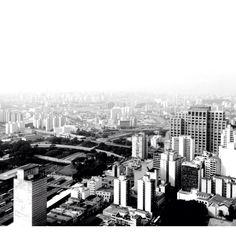 Foto tirada do topo do Banespão, no centro de São Paulo.