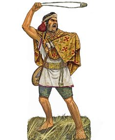 Fromboliere of the Balearic Islands in 260 BCE by Giorgio Albertini Iron Age, Punic Wars, Ancient Armor, Celtic Warriors, Ancient Greece, Roman Empire, Ancient History, Warfare, Rome