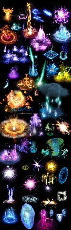 游戏美术资源 设计素材 魔法技能光效特效连帧动画序列png集(5