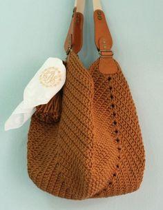 DIY: 12 Ideias de bolsa de crochê #1 Crochet Purse Patterns, Bag Crochet, Crochet Market Bag, Crochet Shell Stitch, Crochet Hook Set, Crochet Handbags, Crochet Purses, Love Crochet, Crochet Stitches