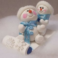 Let's Go Sledding by PEGGERS | Polymer Clay Planet