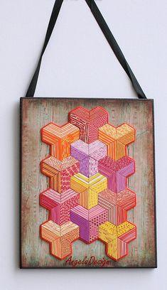 polymer clay, wood base 20x16 cm | Angela Barenholtz