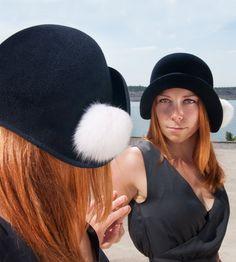 LouLou Damen/Women/Frauen Hut, cloche, exklusiv, Millinery, handgefertigt, romantisch 20er Jahre, handcrafted, ausgefallen, Velour, Winter von NadaQuenzel auf Etsy