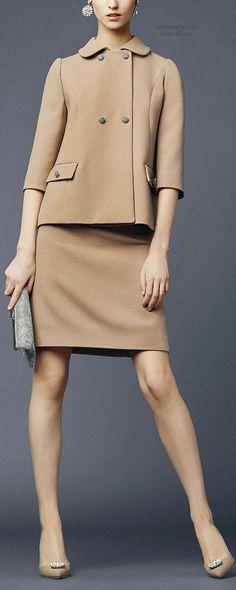 @roressclothes clothing ideas #women fashion beige suit Dolce & Gabbana