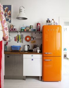 Smeg Refrigerators in Every Color of the Rainbow | Can you picture what a beautiful, sleek, colorful, modern SMEG appliance will look like in your kitchen? They definitely make a huge impact, modernizing ever home with hues from red to purple.