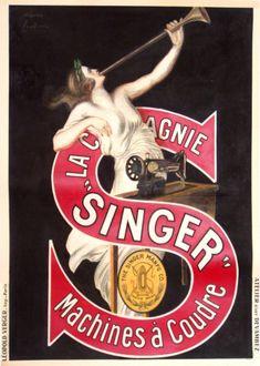 Singer poster by Cappiello L. (d'apres)