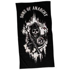 Sons Of Anarchy Black Reaper SOA Logo Towel