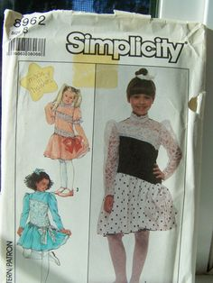Simplicity 8962 Girl's Sewing Pattern  Child's by WitsEndDesign