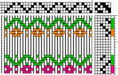 A FiberArtisan's Weaving Path: April TotM - Flowers in Rosepath as Overshot