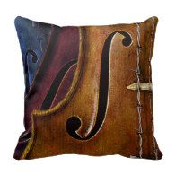 Classic Violin Music Pillow - gift for a violinist!  #Violin