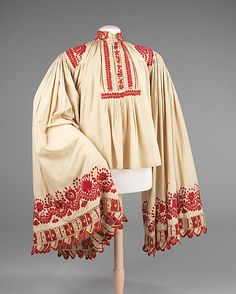 Early Matyó men's shirt - Hungarian Embroidery at the Met Costume Institute