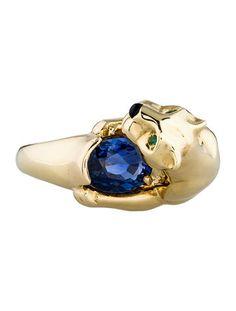 Cartier Sapphire Panthere de Cartier Ring