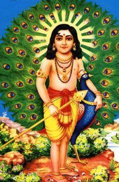 Skanda... Dieu guerrier...Fils de Shiva et de Parvati... frère de Ganesh, Dieu de la chance...