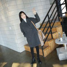 #envylook Wide Collared Double-Breasted Fleece Coat #koreanfashion #koreanstyle #kfashion #kstyle #stylish #fashionista #fashioninspo #fashioninspiration #inspirations #ootd #streetfashion #streetstyle #fashion #trend #style