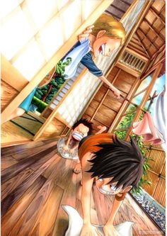 Monkey D. Luffy, Portgas D. Ace and Sabo