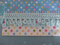 Crochet edged pillowcase