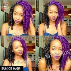 Beautiful Blue Twisted Two Strand Braiding Hair Extensions Top Quality Synthetic Havana Mambo Twist Braid In Bundles…
