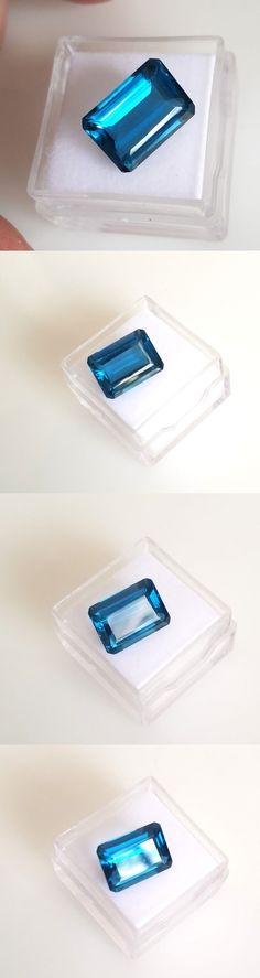 Topaz 10270: 7.93Ct. Emerald Cut Genuine (Natural) London Blue Topaz ( 14X10mm) Loose Stone -> BUY IT NOW ONLY: $69.0 on eBay!