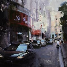 Old Town Passage by Tibor Nagy Oil ~ 15,75 x 15,75