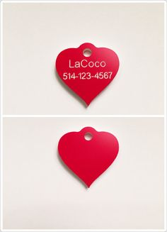 Quiet dog tag Plastic pet tags Custom pet ID tag by LaCoco725