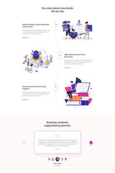 Educational Websites For Kids, Websites For Students, App Landing Page, Landing Page Design, Intranet Design, Math Sites, Web Design Services, Wordpress Theme Design, Website Design Inspiration
