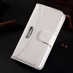 Crazy Horse Grain Litchi Pattern Wallet Case For Samsung S5 i9600