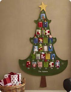 Eat Pray Create: Felt Christmas Tree Advent Calendar Tutorial - Part 1