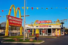A well-preserved old McDonald's.