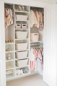 Inspiration for the Chicest of Toddler Rooms How to organize your kids room: www.stylemepretty Photography: Elza Photographie www.elzaphotograp The post Inspiration for the Chicest of Toddler Rooms appeared first on Toddlers Diy. Kid Closet, Closet Ideas, Little Girl Closet, Wardrobe Closet, Playroom Closet, Loft Closet, Girls Dream Closet, Girls Wardrobe, Big Girl Rooms