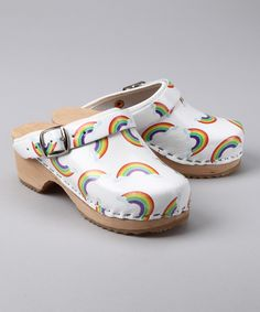 White Rainbow Clog - Women & Kids