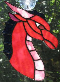 Stained Glass Dragon Suncatcher by RavencroftDesigns on Etsy, $30.00