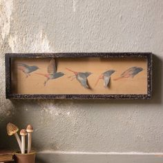 Framed Paper Flying Birds