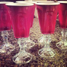 Redneck Party Ideas - Redneck wine glasses