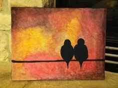 simple acrylic painting on canvas