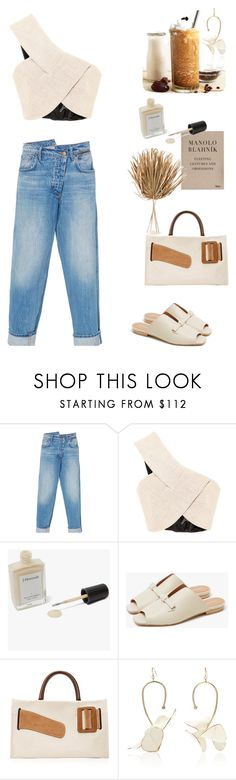 """""""S U M M E R //"""" by statuslusso ❤ liked on Polyvore featuring Monse, Manolo Blahnik, J. Hannah, Boyy, Marni, West Elm, summerstyle and summer2017"""