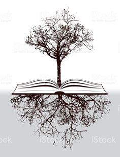 Family tree tattoo for women tatoo Trendy Ideas - Tree Tattoos Vector Trees, Vector Art, Tree With Roots Drawing, Body Art Tattoos, Tatoos, Tree Tattoos, Roots Tattoo, Book Tree, Book Drawing