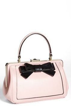 Pink with black bow Kate Spade bag