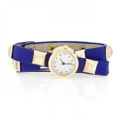 Blue Studded Wrap Watch