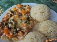 Inspirovala som sa receptikom na zapecene bravcove kare od jana j. (Janushinka), len som pouzila kur... Mashed Potatoes, Cauliflower, Food And Drink, Rice, Vegetables, Ethnic Recipes, Whipped Potatoes, Smash Potatoes, Cauliflowers