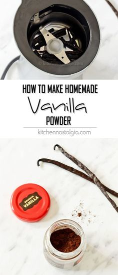 How to Make Homemade Vanilla Powder - find out how easy it is to make your own vanilla powder for all your delicious sweet creations