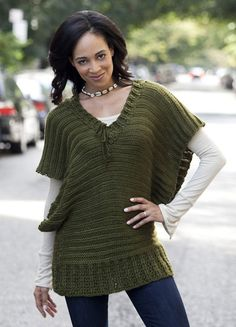Ravelry: V-Neck Topper pattern by Renee Rodgers