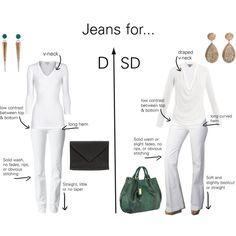 """Jeans looks for Dramatic Types"" by thewildpapillon on Polyvore"