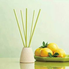 White Sandstone Holder with Lemon Melon Mint SmartScents Fragrance Sticks $20.25/set    Www.partylite.biz/jenswax