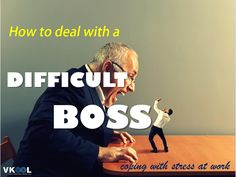 Here are 7 out of 18 tips on how to deal with a difficult boss at work without losing your job. For 11 more tips of this type, click the link: http://vkool.com…