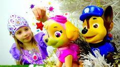 Щенячий патруль в детском видео. Новогодняя ЁЛКА с Принцессой Софией! Иг...