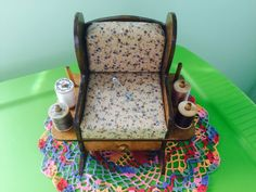 Rocking Chair Pin Cushion Vintage Sewing Supply by NeutralNellies