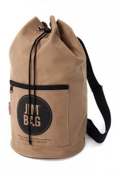 6c1498eb50 Jim Bag One Strap Duffel Bag Beige Leather Drawstring Bags