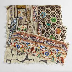 Silk and cashmere Taj Mahal Mosaic Scarf #ShopRoadLessTraveled